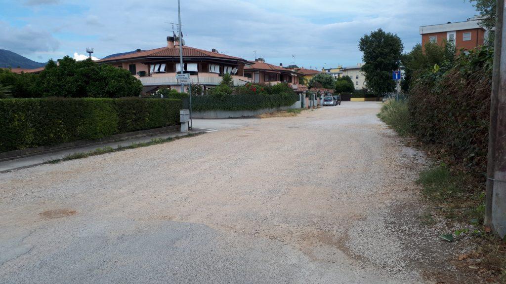 Parte finale di Via Gorgia