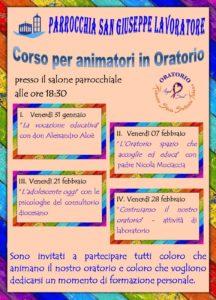 Corso per animatori in Oratorio @ Parrocchia San Giuseppe Lavoratore