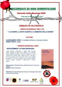 """Rassegna letteraria """"Ricordati di non Dimenticare"""" @ Abbazia di Valvisciolo"""
