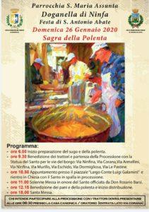 Sagra delle polenta a Doganella di Ninfa @ Doganella di Ninfa