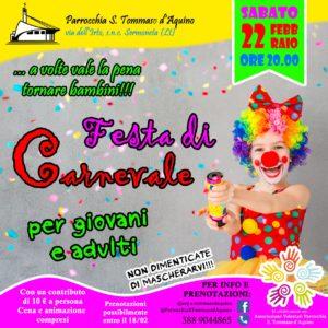 Carnevale Parrocchia San Tommaso - Pontenuovo @ Parrocchia San Tommaso d'Aquino - Ponte Nuovo Sermoneta