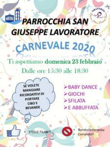 Carnevale Parrocchia San Giuseppe Latina Scalo @ Parrocchia San Giuseppe Lavoratore Latina Scalo
