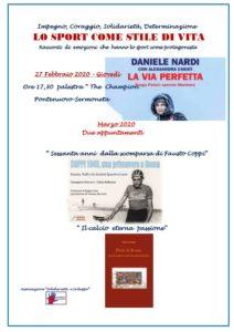 """Conferenza incontro su """"Lo Sport come Stile di Vita"""" @ Palestra The Champion - Pontenuovo - Sermoneta"""